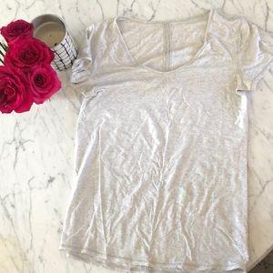 Lululemon gray short sleeve running T-shirt